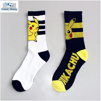 Pokemon GO Socks Women Men Pikachu Cosplay Cotton Casual Pikachu Knee-High Socks