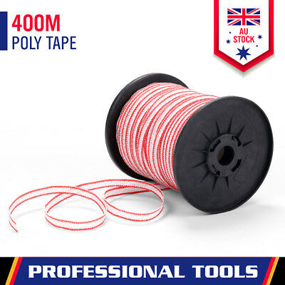 400-Meter Poly Tape Electric Fence Temporary Fencing Kit Stainless Steel Wire