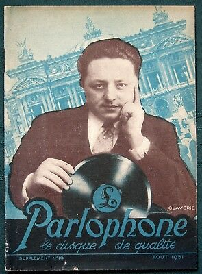 Parlophone Records 1931 French record catalog