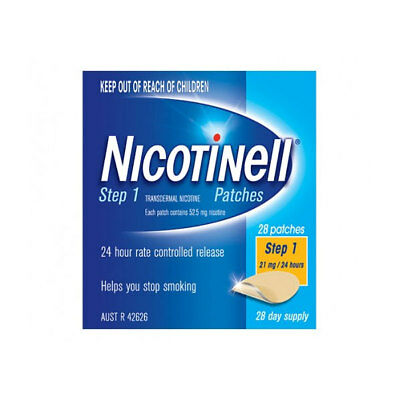 * Nicotinell Step 1 28 Patches 21Mg / 24 Hours 28 Day Supply Helps Quit Smoking