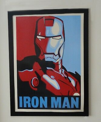 Iron man Poster - Vintage Art Deco style - Screen accurate in Iron Man 2!