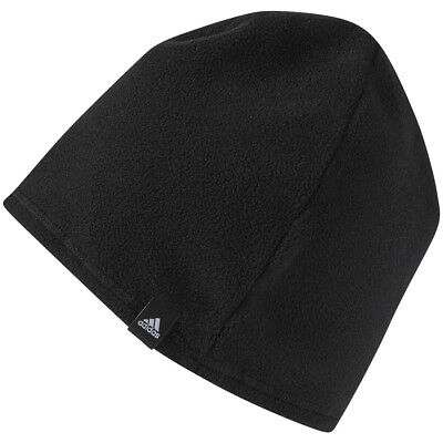 25333941816 NEW MEN S ADIDAS Golf 3 Stripe Fleece Beanie Winter Hat Cap Black ...