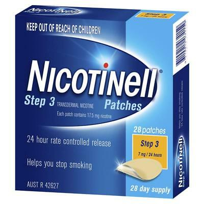 * Nicotinell Step 3 28 Patches 7Mg / 24 Hours 28 Day Supply Helps Quit Smoking