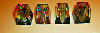 Lot Of 4 LASER ETCHED Cigarette Snuffers /VERY NICE / PRISM COLORS