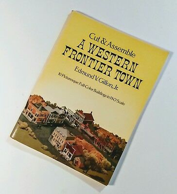 Vintage Cut & Assemble WESTERN FRONTIER TOWN MODEL CRAFT TO DO  BOOK DOVER