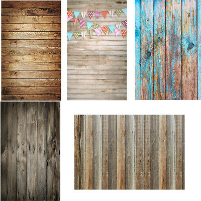 2x3ft/3x5ft Retro Wood Plank Photography Backdrop Studio Photo Background Props