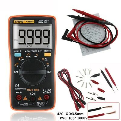 Electrical LCD Digital Clamp Meter Multimeter RMS AC/DC OHM Multi Tester AU