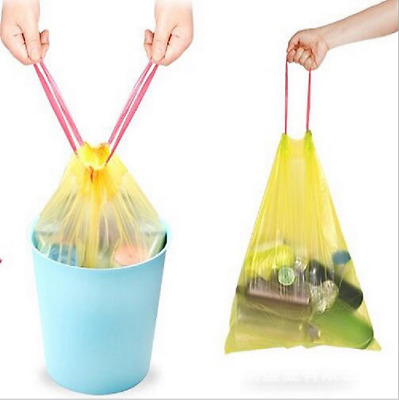 60pcs Drawstring Trash Bags Trash Can Liners Garbage Clean Up for Kitchen Office