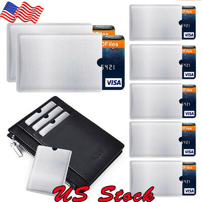 4 - 20x RFID Blocking Sleeve Credit Bank Card Holder for Wallets Card Protector
