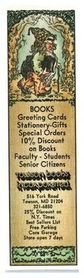 Towson Books Bookmark Ephemera