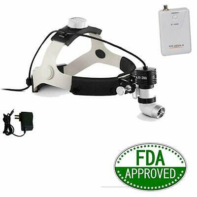5W LED High Power Medical Surgical Headlight Dental Head Lamp W/ Battery&Adapter