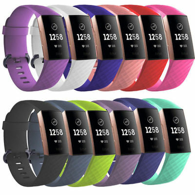 For Fitbit Charge 3 Replacement Sports Band Strap Silicone Wrist Watch Bands