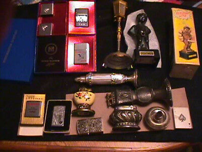 SALE Lot of 12 lighters,etc Zippo, Ronson, Ster silver,Lift arm, Brown & Bigelow