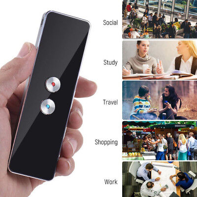 T8 Smart Translation Bluetooth Languages Instant Voice Portable Device New N0C2M