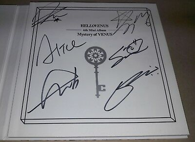 HELLO VENUS Mystery of VENUS 6th Mini K-POP REAL SIGNED AUTOGRAPHED PROMO CD
