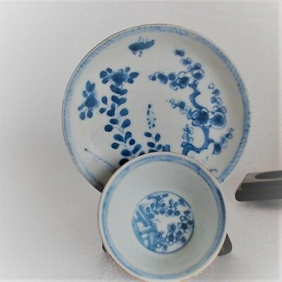 Antique Chinese Export Yiongzheng Teacup & Saucer Fence Pattern Ca Mau Wreck