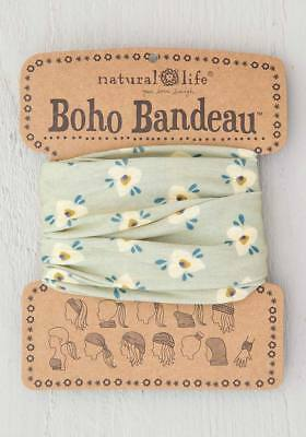 BOHO BANDEAU Wear 11 ways Natural life CORAL PINK /& TURQUOISE Comfy Headband