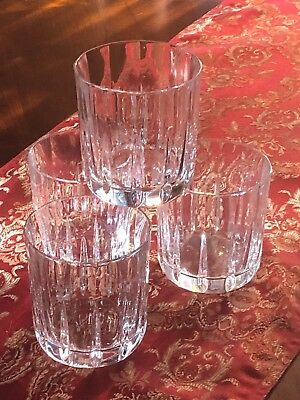 Set Of 4 Crystal Old-Fashioned Glasses