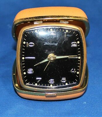 Vintage Blessing Traveling Alarm Clock MADE IN GERMANY