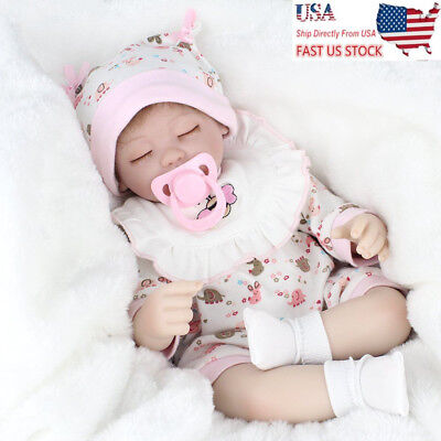 "16"" Lifelike Reborn Baby Dolls Handmade Sleeping Girl Doll Gifts Toys US Stock"