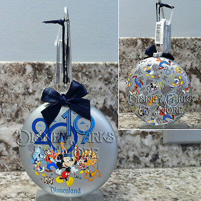 Disney Parks Disneyland 2019 Mickey and Friends Character Glass Ornament