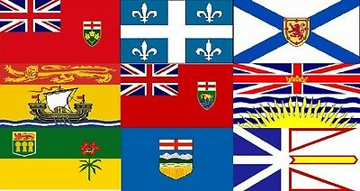 Large High Quality Canada Provinces Flag Banner 2'X3' 3'X5' 3'X6' Indoor/Outdoor