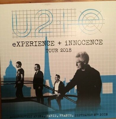 U2 eXPERIENCE + INNOCENCE Tour 2018 In Paris (RARE 2 CD)