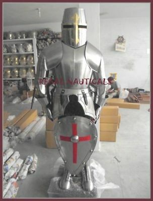 Medieval Knight Crusader Spartan Full Suit Of Armor With Stand & Shield Gift