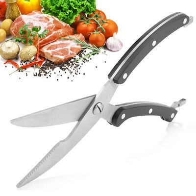 """10"""" Strong Kitchen Shears Stainless Steel Poultry Fish Chicken Bone Scissors"""