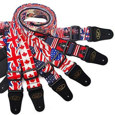 125cm Guitar Strap Comfortable 50mm Wide Adjustable for Bass Electric Acoustic