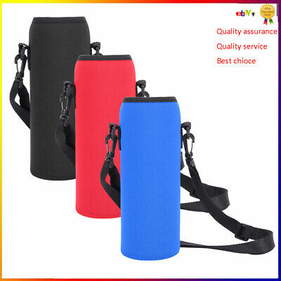 1L Water Bottle Carrier Insulated Cover Bag Holder Strap Pouch Outdoor Cycling