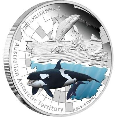 Australian Antarctic Territory Series Killer Whale 2011 1oz Silver Proof Coin