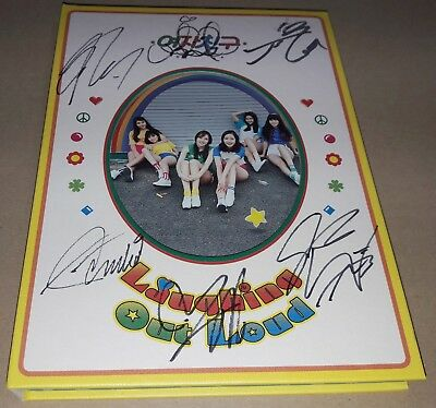 GFRIEND 1ST ALBUM Laughing Out Loud ver K-POP REAL SIGNED AUTOGRAPHED CD #3
