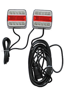 7.5m+2.5m Cable Magnetic Trailer Rear Towing Lightboard Lights 7pin Plug TKL003A