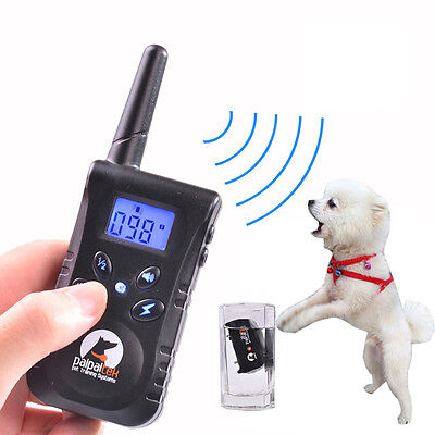 Electric Waterproof Rechargeable Remote Pet Dog Training Shock Collar+Two Collar