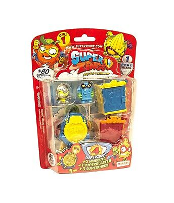 SUPERZINGS Blister HIDEOUT Box 4 FIGURE 2 Tane SERIE 1 ORIGINALE Super Zings