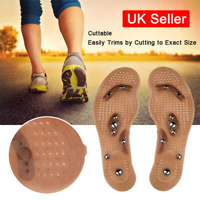 UK MindInSole Acupressure Magnetic Massage Weight Loss Therapy Slim Shoe Insoles