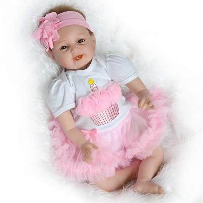 Realistic Reborn Girl Doll Lifelike Sleeping Newborn Baby Doll Kid Toy Xmas Gift