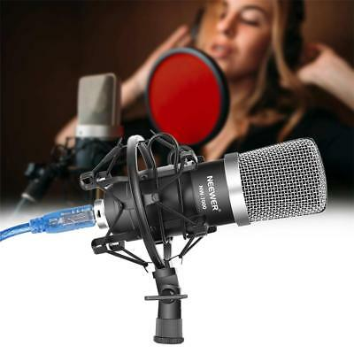 Neewer NW-7000 USB Pro Studio Condenser Microphone Blue & Black Kit+Shock Mount