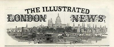 1849 ILLUSTRATED LONDON NEWS Thames Whale ISTANBUL Tuscany Wine Harvest (5930)