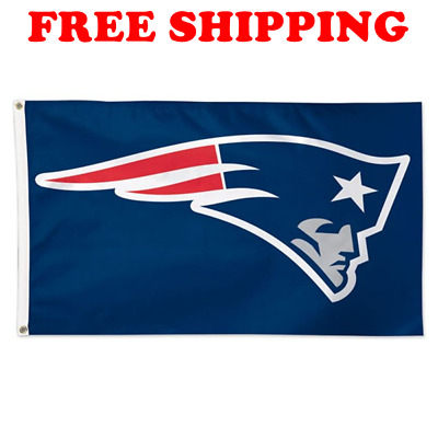 Deluxe New England Patriots Team Logo Flag 2018 NFL Football Banner 3x5 ft NEW