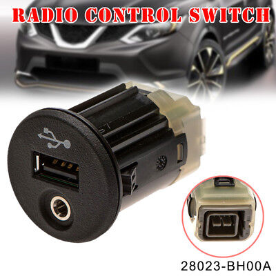 for Nissan Juke Qashqai XTrail Micra Note NV200 USB AUX Port 28023BH00A