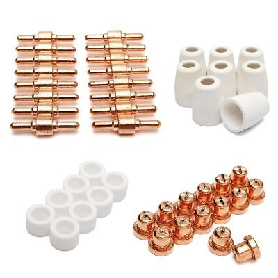 45pcs PT-31 Plasma cutter Cutting Torch Consumable Tip Electrode Guide Ring Kit