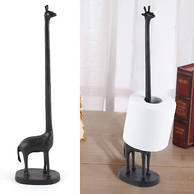 Cute Cast Iron Giraffe Toilet Paper Holders Free Standing Novelty Roll Holders