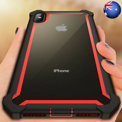 For iPhone 11 Pro Max XR X 8 Heavy Duty Shockproof Rubber Hybrid Hard Cover Case