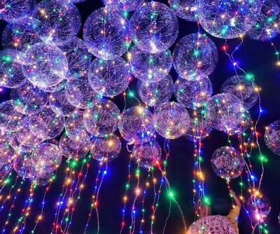LED Lights Clear Bubble Balloons Wedding Birthday Party Decorations Xams Decors