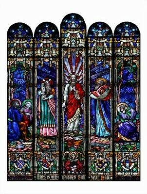 "~Post Card~""Transfiguration/Jesus Christ"" -Stained Glass Window /Picture/ (V-3"