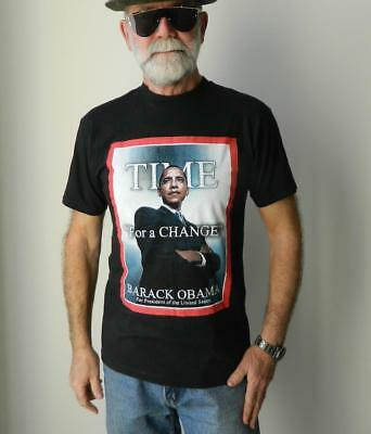 VINTAGE Barack Obama TIME For a Change History In The Making 2008 T Shirt