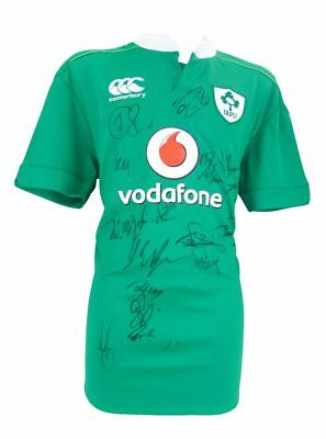 Ireland Signed Rugby Shirt - Fully Autographed + *certificate Of Authenticity*