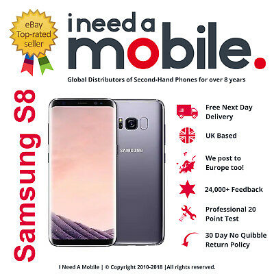 Samsung Galaxy S8 SM-G950F - 64GB - Unlocked - All Networks - Various Colours